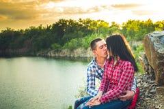 Una storia di amore in natura Immagine Stock