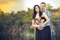 Una storia di amore in natura Fotografie Stock Libere da Diritti