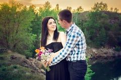 Una storia di amore in natura Fotografia Stock Libera da Diritti