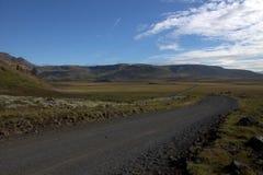 Una strada alla valle degli elfi in Islanda Immagini Stock Libere da Diritti