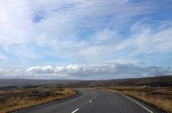 Una strada alla valle degli elfi in Islanda Fotografia Stock
