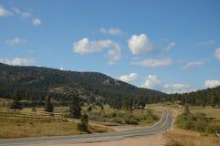 Una strada a Boulder, Colorado Fotografia Stock Libera da Diritti