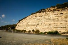 Una strada da Limassol a Platres mentre auto che viaggia in macchina, Cipro centrale Fotografia Stock