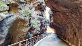 Una strada del balcone dentro le montagne di estate immagine stock