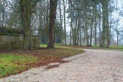 Una strada di pietra in un parco di Versailles Immagine Stock Libera da Diritti
