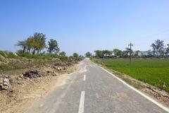 Una strada e un fiume punjabi Fotografie Stock Libere da Diritti
