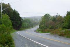 Una strada in Nuova Scozia immagine stock