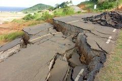 Una strada principale crollata a Argyle, st vincent Immagine Stock