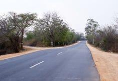 Una strada sola del catrame Fotografia Stock Libera da Diritti