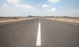 Una strada vuota nell'Oman Fotografie Stock