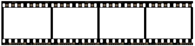 Una striscia della pellicola di 35mm Immagine Stock Libera da Diritti
