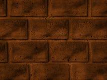 Una struttura della parete di colore marrone del mattone Immagini Stock Libere da Diritti