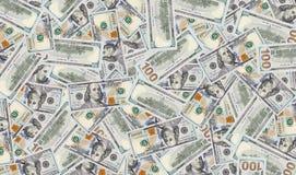 Una struttura di cento banconote del dollaro Fotografia Stock