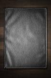 Una struttura di cuoio nera Fotografie Stock