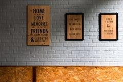 una struttura di 3 foto sulla parete Immagine Stock Libera da Diritti