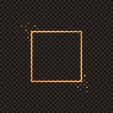 Una struttura quadrata ardente con le scintille Struttura dorata festiva di Natale per la decorazione dei vostri progetti Fotografia Stock