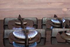 Una stufa di gas di lavoro Fotografia Stock