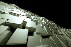 Superficie blanca Blocky Imagen de archivo libre de regalías