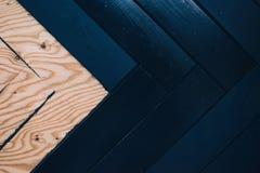 Una superficie di legno di due colori fotografia stock