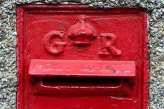 Una 6ta caja del poste de George en Essex imagen de archivo