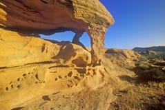 Una tabla de la piedra arenisca en el valle del parque de estado del fuego en la salida del sol, nanovoltio foto de archivo libre de regalías