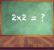 Una tabla de madera de la pizarra verde Concepto de la educación stock de ilustración