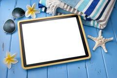 Viaje del ordenador de la tableta Imagen de archivo