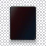 Una tableta realista en un fondo transparente foto de archivo libre de regalías