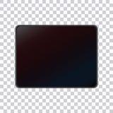 Una tableta realista en un fondo transparente fotos de archivo