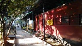 Una tarde en el museo ferroviario colorido Imagenes de archivo