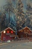 Una tarde maravillosa del invierno Imagenes de archivo