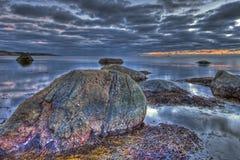 Una tarde por el mar en HDR Fotografía de archivo