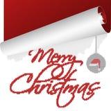 Una tarjeta de Navidad con el texto hecho punto que rueda encima del viejo año stock de ilustración