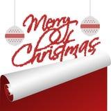 Una tarjeta de Navidad con el texto hecho punto que rueda encima del viejo año ilustración del vector