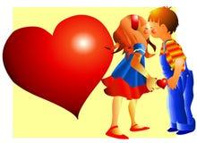 Una tarjeta del día de San Valentín especial Imágenes de archivo libres de regalías
