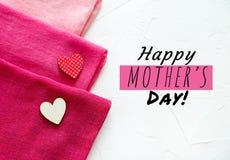 Una tarjeta feliz del día del ` s de la madre imagen de archivo libre de regalías