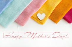 Una tarjeta feliz del día del ` s de la madre foto de archivo libre de regalías
