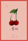 Una tarjeta horizontal para el día del ` s del stValentine con el saludo para el un amor de I Imágenes de archivo libres de regalías