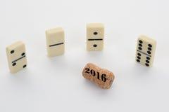 2016, una tarjeta para el final del año Fotografía de archivo libre de regalías