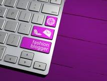 Una tastiera di computer, il bottone di ricerca Motore di ricerca, blogger di modo Immagine Stock