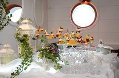 Una tavola di buffet al festival Fotografia Stock Libera da Diritti