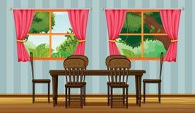 Una tavola dinning illustrazione di stock