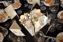 Una tavola messa per una ricezione Fotografie Stock Libere da Diritti