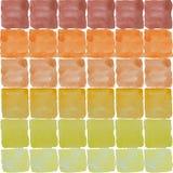 Una tavolozza dei colori luminosi dell'acquerello nei quadrati su una parte posteriore di bianco Immagini Stock