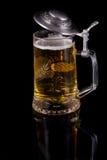 Una taza con la cerveza Imagen de archivo libre de regalías