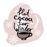 Una taza de cacao con la inscripción Imagen del vector Fotos de archivo libres de regalías