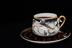 Una taza de café fotos de archivo