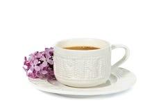 Una taza de café fotografía de archivo libre de regalías