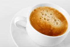 Una taza de café delicioso del café express Fotografía de archivo libre de regalías