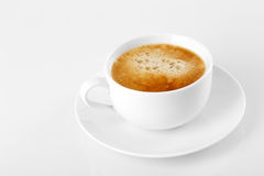 Una taza de café delicioso del café express Imagenes de archivo